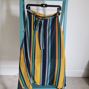 Boohoo Striped Skirt